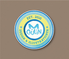Embroidered vector patch (M.Gulin) Tags: patch vector embroidered