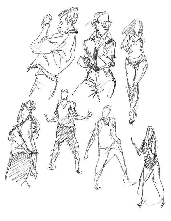 gesture sketches - 110711