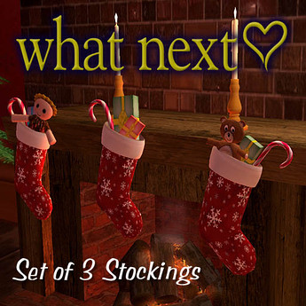 3 Christmas Stockings, 10 lindens by Cherokeeh Asteria