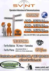 SVINT Operadora valenciana de telecomunicacions -Descomptes per a Vall de Flors