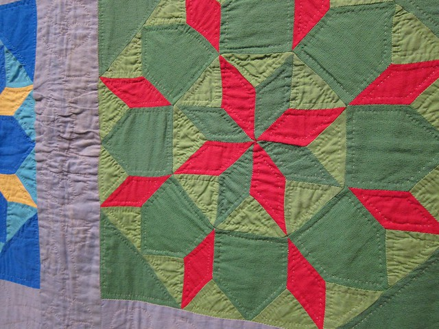 Carpenter's Wheel variation quilt 1945-1955