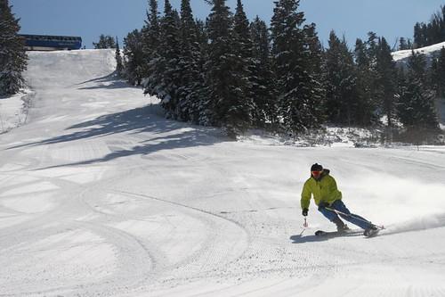 Solitude skier
