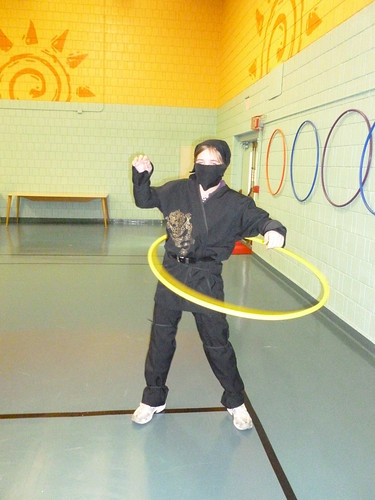 Hula-hooping Ninja by Chez VH