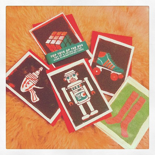 Jono's Top Toys of the 80s set of cards by silkeybeto