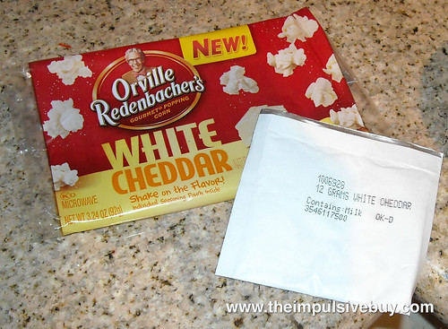 Orville Redenbacher's Flavor Singles  White Cheddar Pouch and Packaging