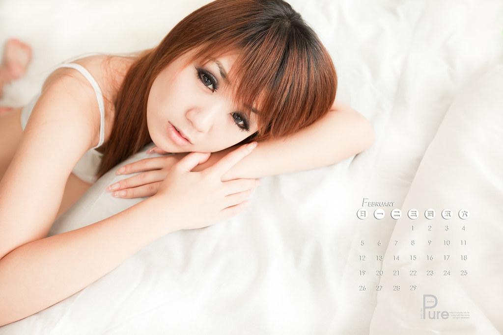 2012年月曆-美女