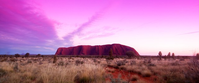 Sun rising over Uluru aka Ayers Rock