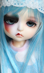 (Aya_27) Tags: blue red love yellow doll mask colorfull unique clown special elf fairy lea bjd dollfie limited pierrot dollie latidoll palelips lati halfheart