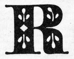 R (chrisinplymouth) Tags: letter capitalletter alphabet cw69az black white ornate cw69x r oneletter vtge letterr