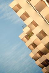 Retro balconies (Neu7rinos) Tags: urban paris architecture facade photo construction 15 moderne bleu ciel samuel arrondissement industrie ville beton immeuble ligne verre vitre flcikr eme gometrie samshoot neu7rinos