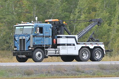 """Campbell's Towing """"Big Blue"""" Kenworth K100 cabover tow truck highway 401 near Morrisburg, Ontario Canada 09222011-150 Ian A. McCord (ocrr4204) Tags: blue ontario canada k truck big nice nikon highway action sweet great bleu camion vehicle mccord bigblue campbells tow transcanada coe trucking towing 401 kw kenworth bigrig d300 wrecker lightbar cabover highway401 k100 remorque morrisburg worldtruck ianmccord orangelightbar ianamccord campbellstowing"""