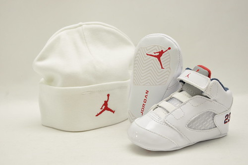 Jordan 5 Retro White/Blue/Red Toddlers