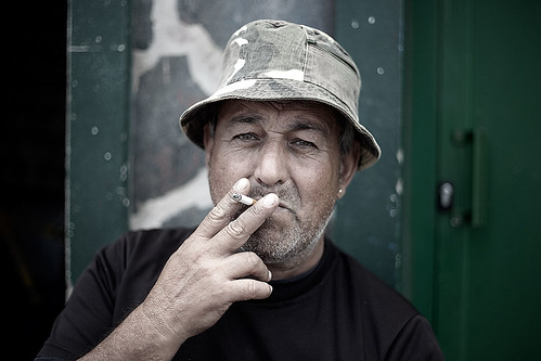 The smoking fisherman