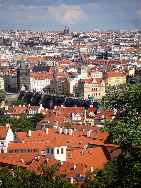 rooftops of prague.