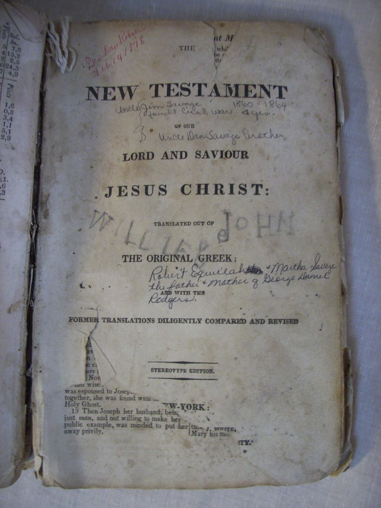 Rodgers Family Bible - New Testament cover