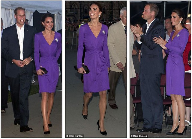 Purple princess Kate pulls off another fashion triumph as half a million turn out in Canada 4
