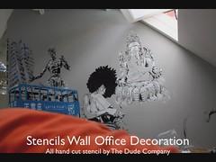SPPS Wall (The Dude Company) Tags: stencil bureau decoration lille pochoir spps thedudecompany