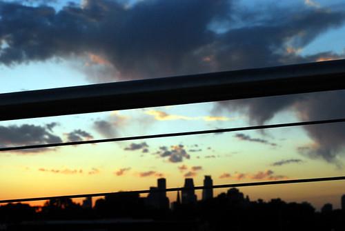 365.97.  Sunset Facing Downtown Minneapolis from Martin Sabo Bridge