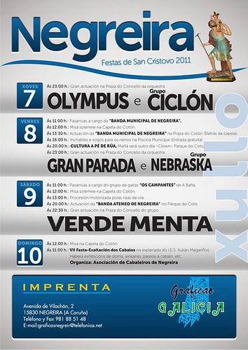 Negreira 2011 - Festas de San Cristovo - cartel