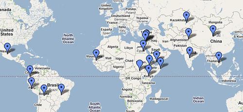 Карта конфликтов, причиной которых стала вода