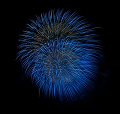 blue, blue, electric blue . . . (iMatthew) Tags: boston fireworks esplanade 4thofjuly bostonist universalhub