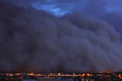 Squaw Peak Night Attack (6000 ft. Tall Monster) (joecrowaz) Tags: city wild arizona cloud color nature phoenix canon dark raw ngc fast run mean manual 1855mm duststorm highiso 550d t2i arizonathunderstorms