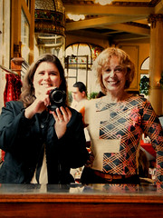 Katie and Cherie at Las Violetas, Buenos Aires, Argentina by katiemetz, on Flickr
