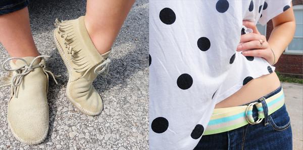 Outfit- bold polka dots