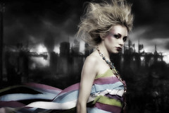 the_fall_of_chrysallis (francemalate) Tags: woman female photoshop canon model destruction apocalypse blonde 5d layers surrealist strobe 2012 strobist strobism canon70200mm28is francemalate