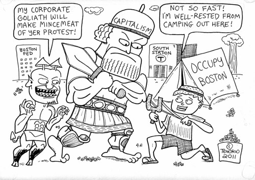 Occupy Boston Cartoon by rbtenorio