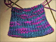 Peacock Pomatomus socks, as of 10/5