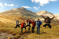 Jump for Joy ; ) (.:: Maya ::.) Tags: people mountain nature trekking jump ivan bulgaria rila   vazov