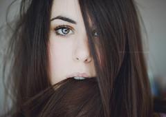 (Lucia Rubio) Tags: eye girl hair delicate coldtones womanportrait selfportraitwoman eathair luciarubio