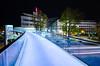 blue lights (Tafelzwerk) Tags: city bridge blue work nikon bonn telekom vivid sigma wideangle tmobile brücke arbeit headquarter bwi langzeitbelichtung longtimeexposure weitwinkel postprocessing hauptsitz 816mm d7000 nikond7000 sigma816mm tafelzwerk tafelzwerkde telekomag hauptquarter bwisystemegmbh