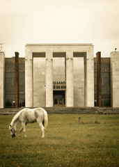 / The Abandoned Temple of Lenin (_ghosty_) Tags: lenin autumn horses cool uncool  leninsmuseum  cool2 cool5 cool3 cool6 cool4 sovietarchitecture  cool7     uncool2 iceboxcool