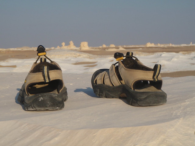 KEEN in White Desert in Egypt
