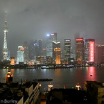 Shanghai skyscrapers at night
