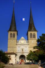 Luzern - St. Leodegar im Hof (Wolfgang Staudt) Tags: schweiz luzern hofkirche stiftskirche wolfgangstaudt stleodegarimhof