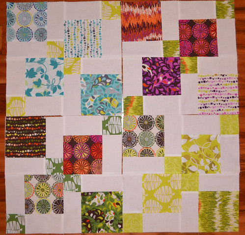 Disappearing 9 patches for Judith and Susan's Bee Blessed
