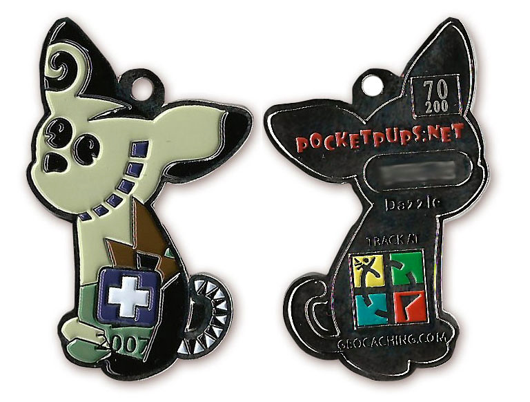 Geocoin - Pocketpups.net Dazzle Nickel