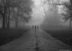 Three Souls [EXPLORE ] (Hadi Al-Sinan Photography) Tags: park bw souls canon photography three interesting mark leeds archive explore hyde ii 5d f28 2010 hadi 2470mm alsinan alssinan