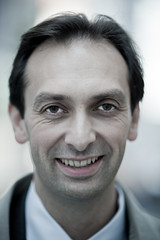 Mark (#107) (Al Fed) Tags: man phone stuttgart mark joy tie planes beyond investment banker 135mmf2 100strangers 20111013