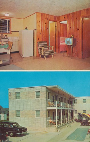 The Cardboard America Motel Postcard Archive Del Mar Apartments Wildwood