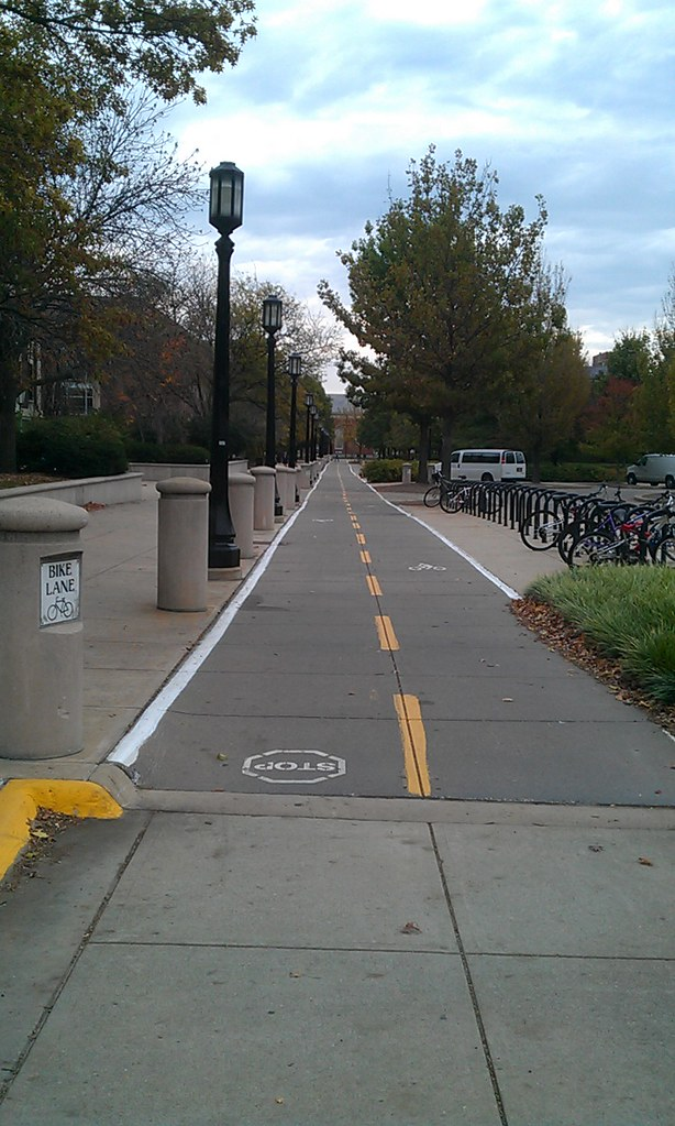 Purdue Bike Lane