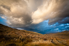 Storm Clouds Over Antelope Flats (Free Roaming Photography) Tags: autumn usa cloud storm west fall weather clouds nationalpark hill tracks sage hills western northamerica kelly aspens dirtroad wyoming storms grandteton sagebrush aspentrees grandtetonnationalpark antelopeflats