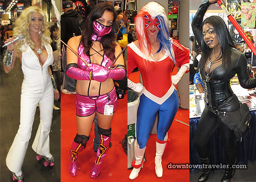 2011 NY Comic Con Women Action Hero Costumes