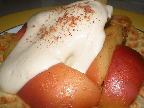 Hot Apples with Cashew Cream