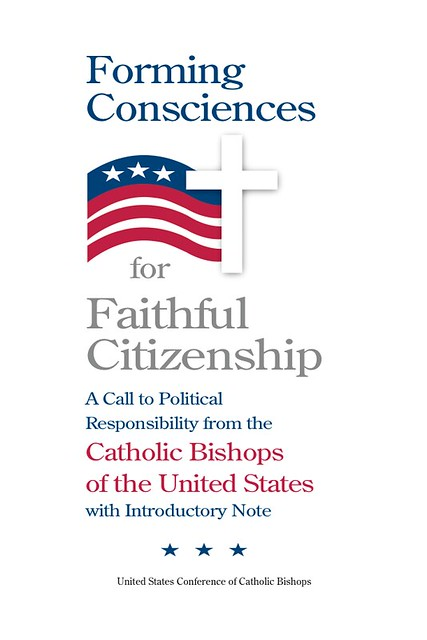 "Cover to ""Forming Consciences for Faithful Citizenship: A Call to Political Responsibility from the Catholics Bishops of the United States"""