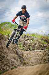 Mountain Bike 1 (christianrehm77) Tags: mountain sports bike jump shot action awesome sigma trail freeze 70200 shred gft d7000