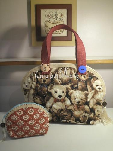 Bolsinha Ursos by tania patchwork